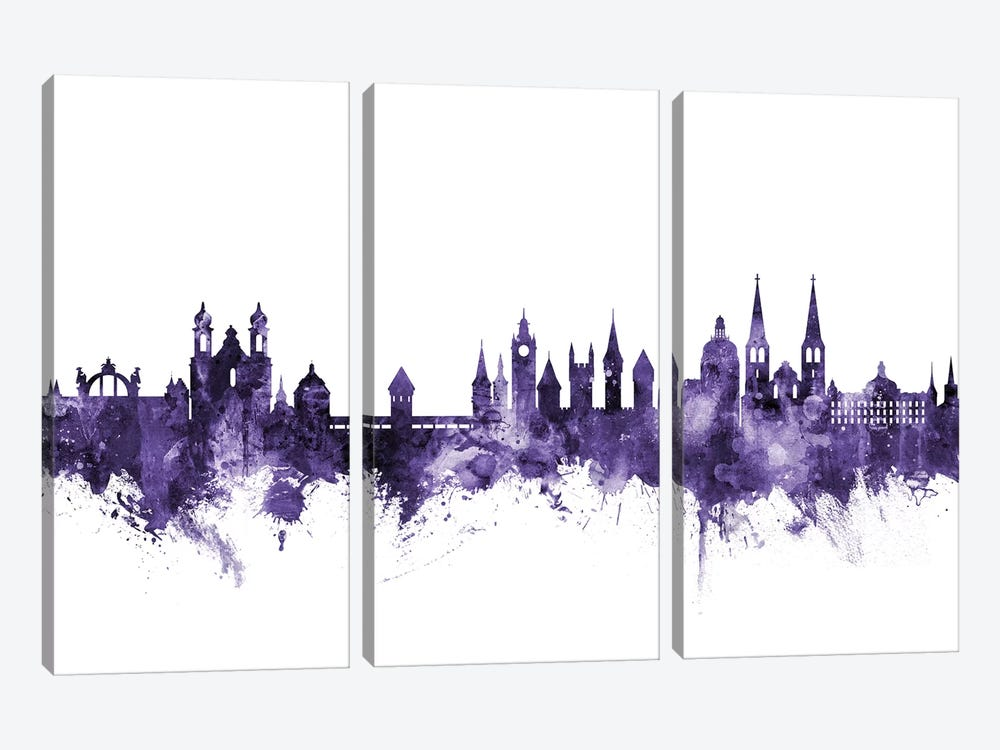 Lucerne, Switzerland Skyline by Michael Tompsett 3-piece Canvas Artwork