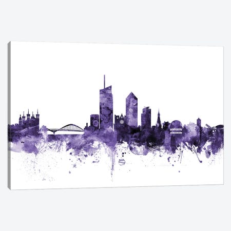 Lyon, France Skyline Canvas Print #MTO640} by Michael Tompsett Art Print