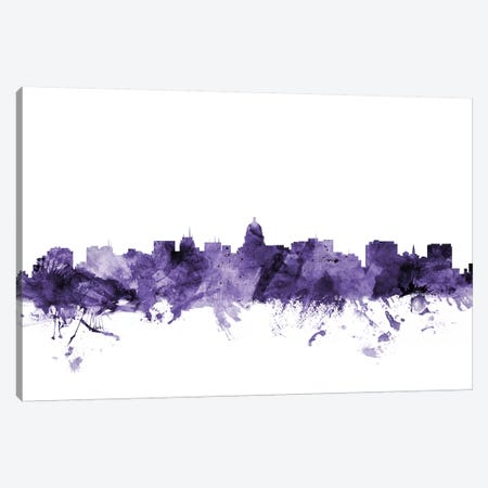 Madison, Wisconsin Skyline Canvas Print #MTO641} by Michael Tompsett Art Print