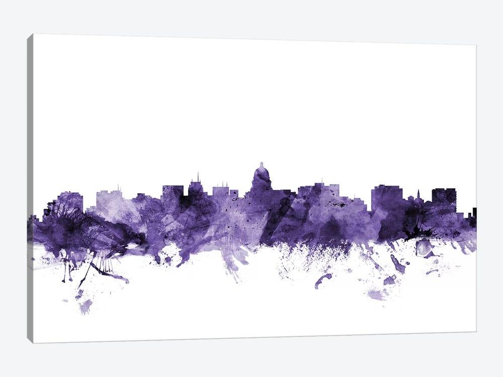 Madison, Wisconsin Skyline by Michael Tompsett 1-piece Canvas Art