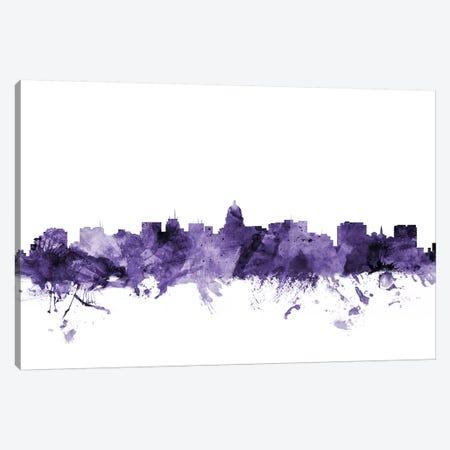 Madison, Wisconsin Skyline Canvas Print #MTO641} by Michael Tompsett Art Print