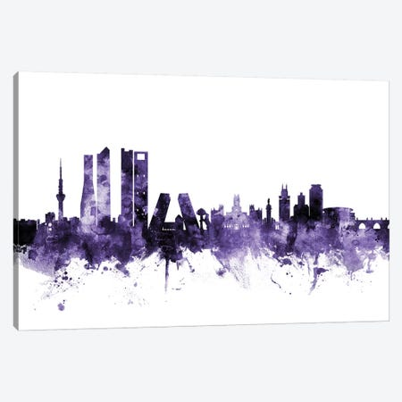 Madrid, Spain Skyline 3-Piece Canvas #MTO642} by Michael Tompsett Art Print