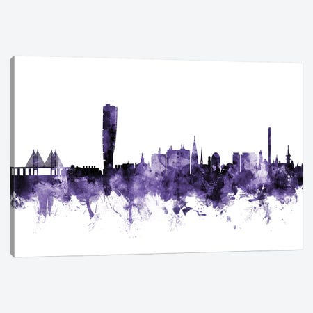 Malmo, Sweden Skyline Canvas Print #MTO643} by Michael Tompsett Art Print