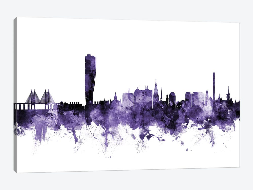 Malmo, Sweden Skyline by Michael Tompsett 1-piece Canvas Art
