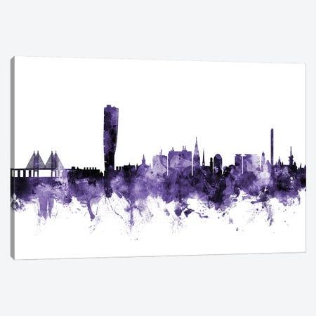 Malmo, Sweden Skyline Canvas Print #MTO643} by Michael Tompsett Art Print