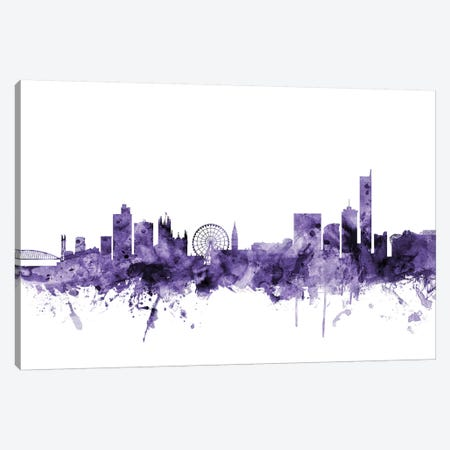 Manchester, England Skyline Canvas Print #MTO644} by Michael Tompsett Canvas Artwork