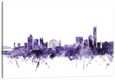 Manchester, England Skyline Canvas Art Print