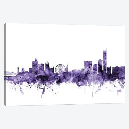 Manchester, England Skyline Canvas Print #MTO644} by Michael Tompsett Canvas Artwork