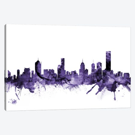 Melbourne, Australia Skyline Canvas Print #MTO645} by Michael Tompsett Canvas Art