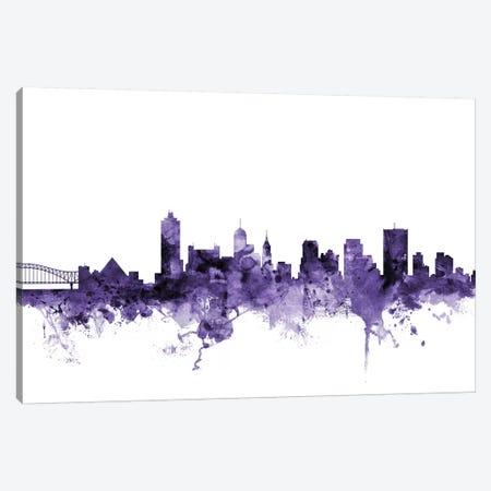 Memphis, Tennessee Skyline Canvas Print #MTO646} by Michael Tompsett Canvas Art