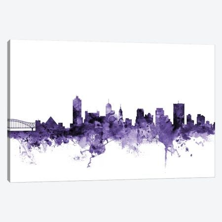 Memphis, Tennessee Skyline Canvas Print #MTO646} by Michael Tompsett Canvas Art