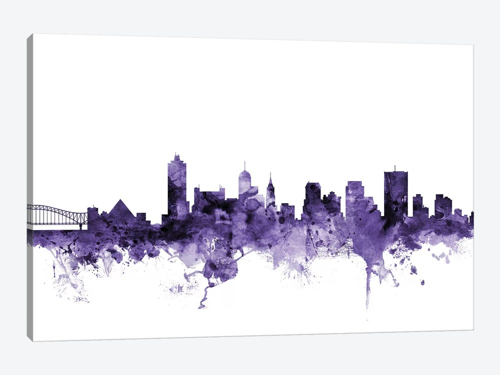 Memphis, Tennessee Skyline by Michael Tompsett 1-piece Art Print