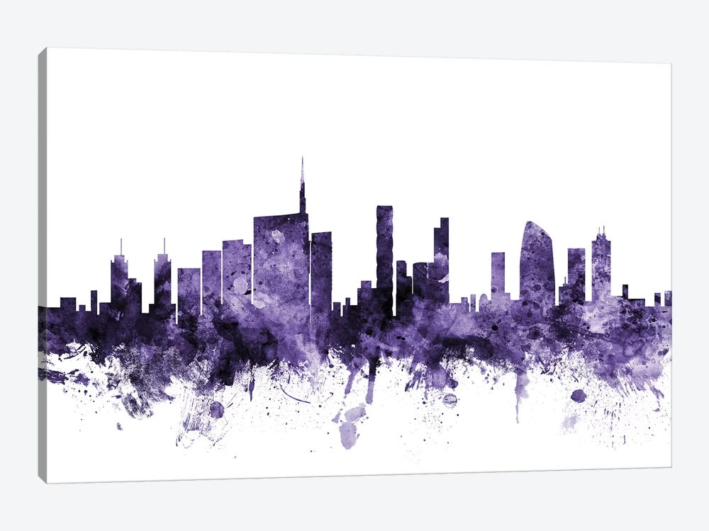 Milan, Italy Skyline by Michael Tompsett 1-piece Canvas Wall Art