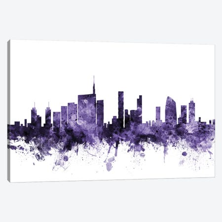 Milan, Italy Skyline Canvas Print #MTO649} by Michael Tompsett Canvas Art Print
