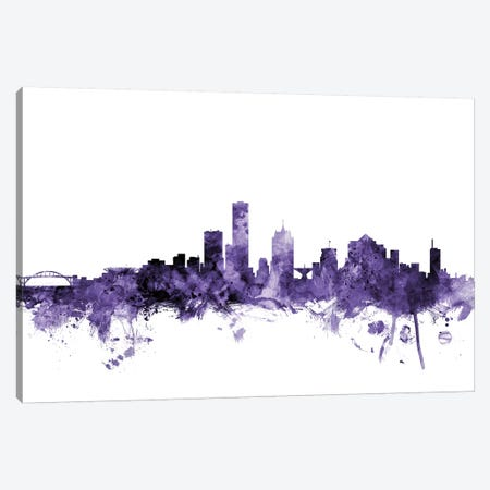 Milwaukee, Wisconsin Skyline Canvas Print #MTO650} by Michael Tompsett Canvas Artwork