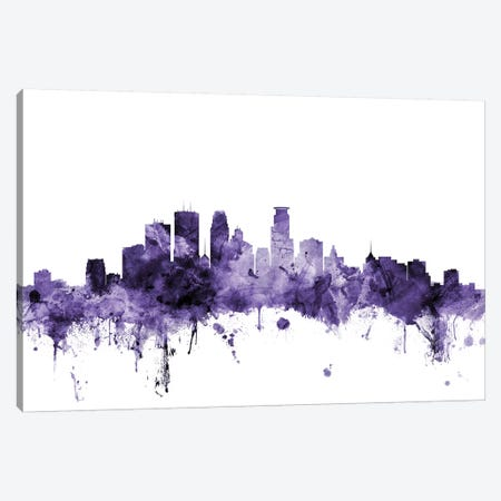 Minneapolis, Minnesota Skyline Canvas Print #MTO651} by Michael Tompsett Canvas Wall Art
