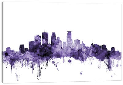 Minneapolis, Minnesota Skyline Canvas Art Print
