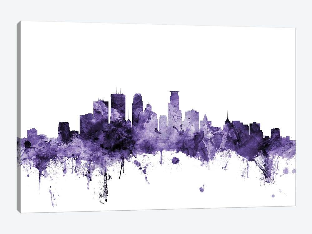 Minneapolis, Minnesota Skyline by Michael Tompsett 1-piece Canvas Art Print