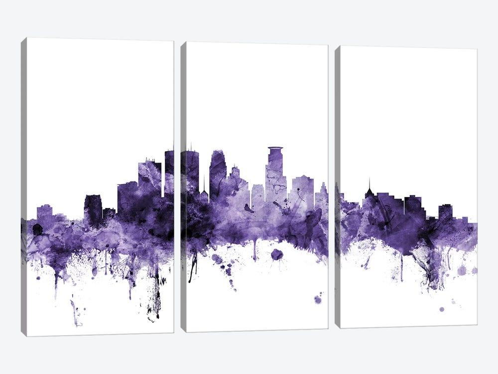 Minneapolis, Minnesota Skyline by Michael Tompsett 3-piece Canvas Art Print