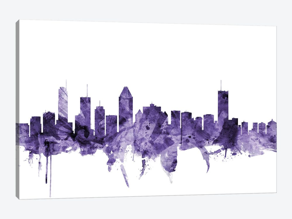 Montreal, Canada Skyline by Michael Tompsett 1-piece Canvas Art