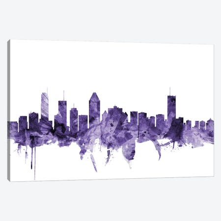 Montreal, Canada Skyline Canvas Print #MTO652} by Michael Tompsett Canvas Art
