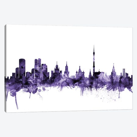 Moscow, Russia Skyline Canvas Print #MTO653} by Michael Tompsett Canvas Art