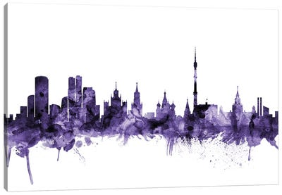 Moscow, Russia Skyline Canvas Art Print