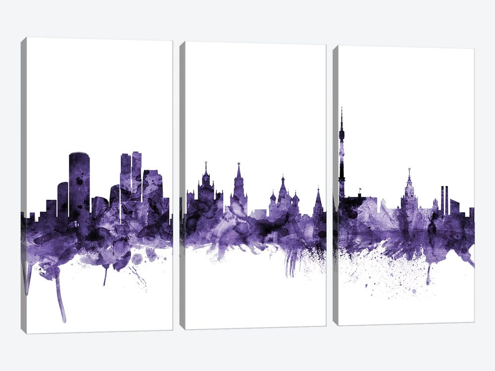 Moscow, Russia Skyline by Michael Tompsett 3-piece Art Print