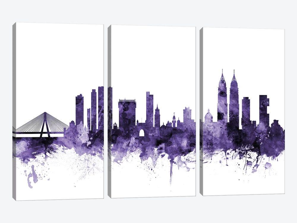 Mumbai (Bombay), India Skyline by Michael Tompsett 3-piece Canvas Art