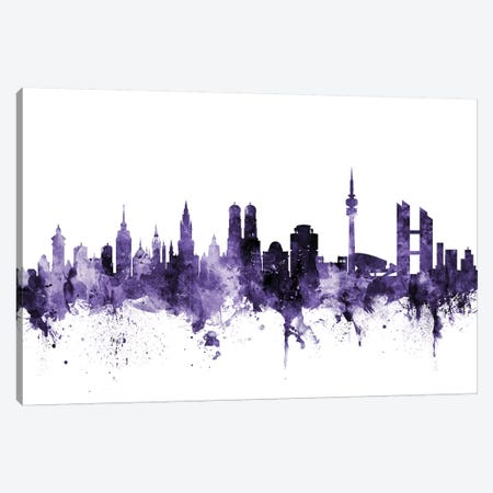 Munich, Germany Skyline Canvas Print #MTO655} by Michael Tompsett Canvas Print