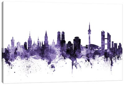 Munich, Germany Skyline Canvas Art Print