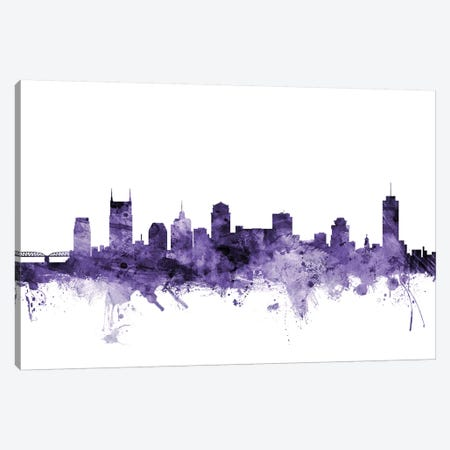 Nashville, Tennessee Skyline Canvas Print #MTO656} by Michael Tompsett Canvas Print
