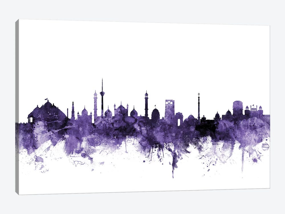 New Delhi, India Skyline 1-piece Canvas Print