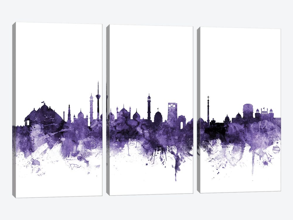New Delhi, India Skyline by Michael Tompsett 3-piece Canvas Print