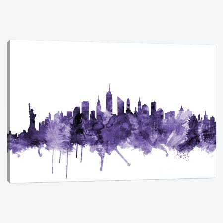 New York City Skyline I Canvas Print #MTO659} by Michael Tompsett Canvas Wall Art