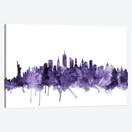 New York City Skyline I Canvas Print #MTO659} by Michael Tompsett Canvas Wall Art