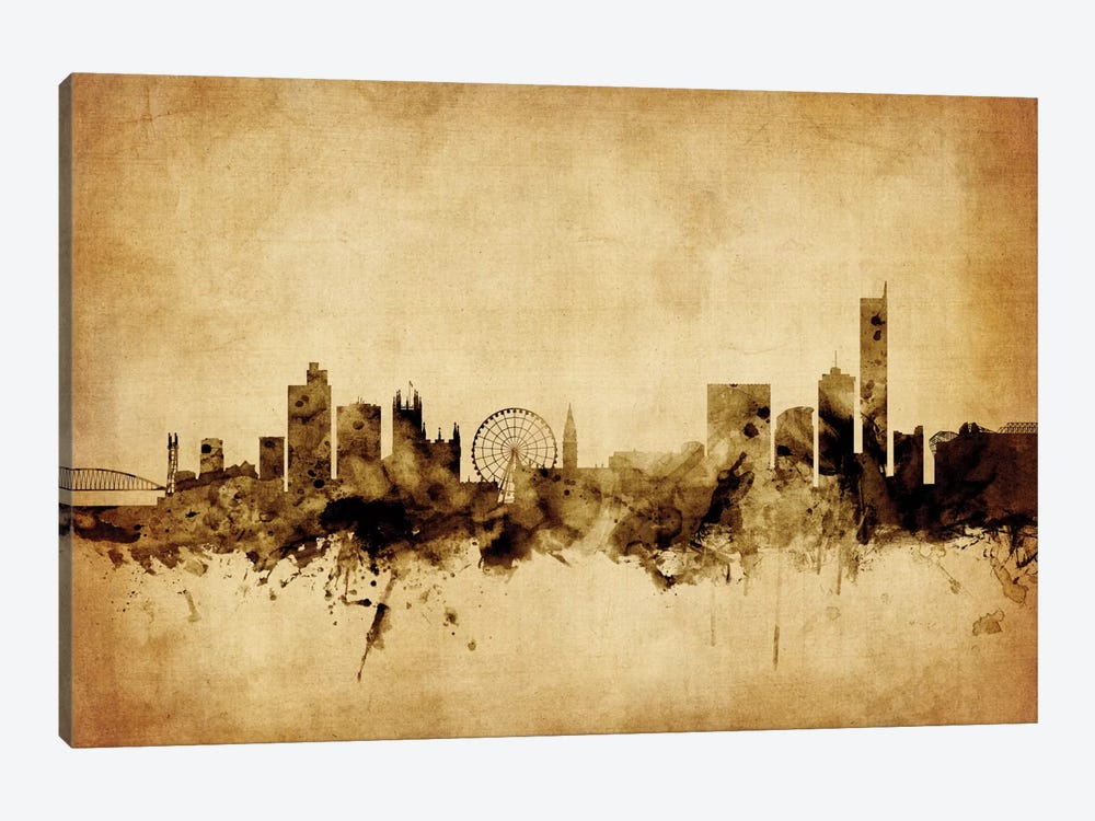 Manchester, England, United Kingdom by Michael Tompsett 1-piece Canvas Wall Art