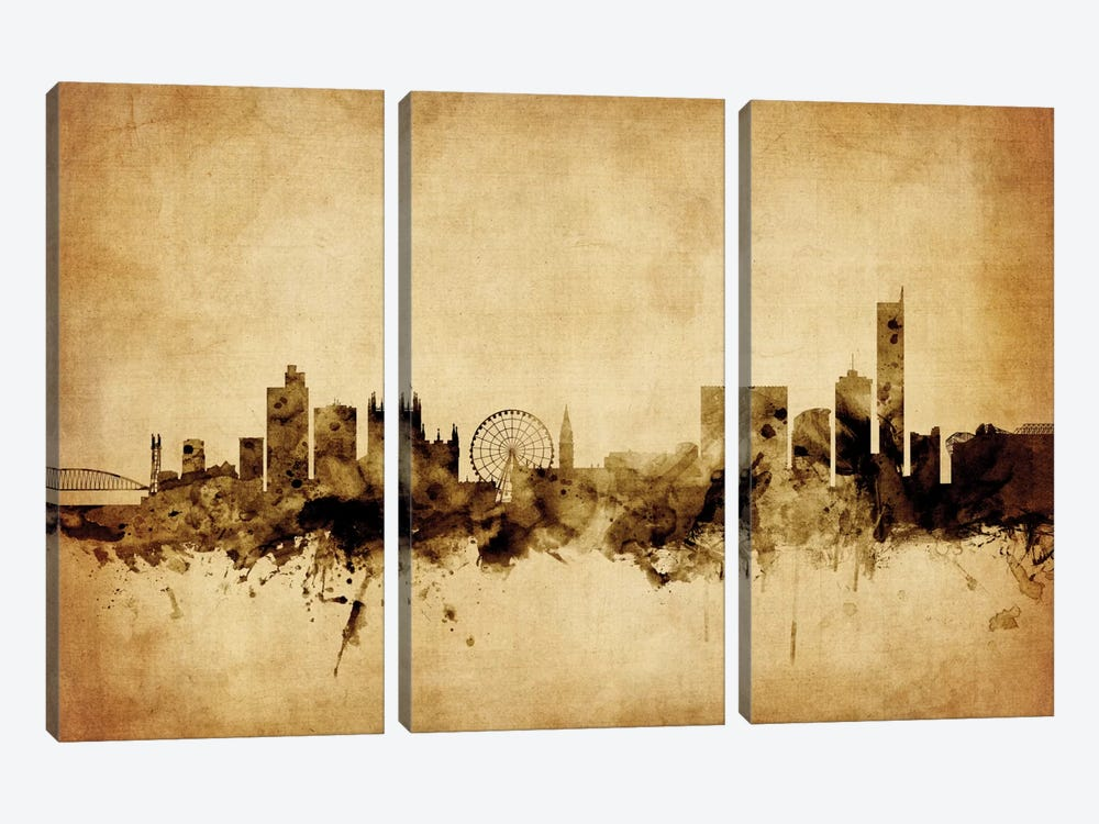 Manchester, England, United Kingdom by Michael Tompsett 3-piece Canvas Art