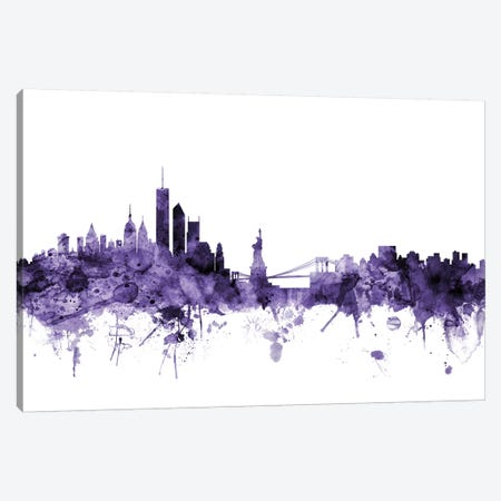 New York City Skyline II Canvas Print #MTO660} by Michael Tompsett Art Print