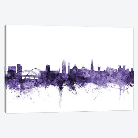 Newcastle, England Skyline Canvas Print #MTO661} by Michael Tompsett Art Print