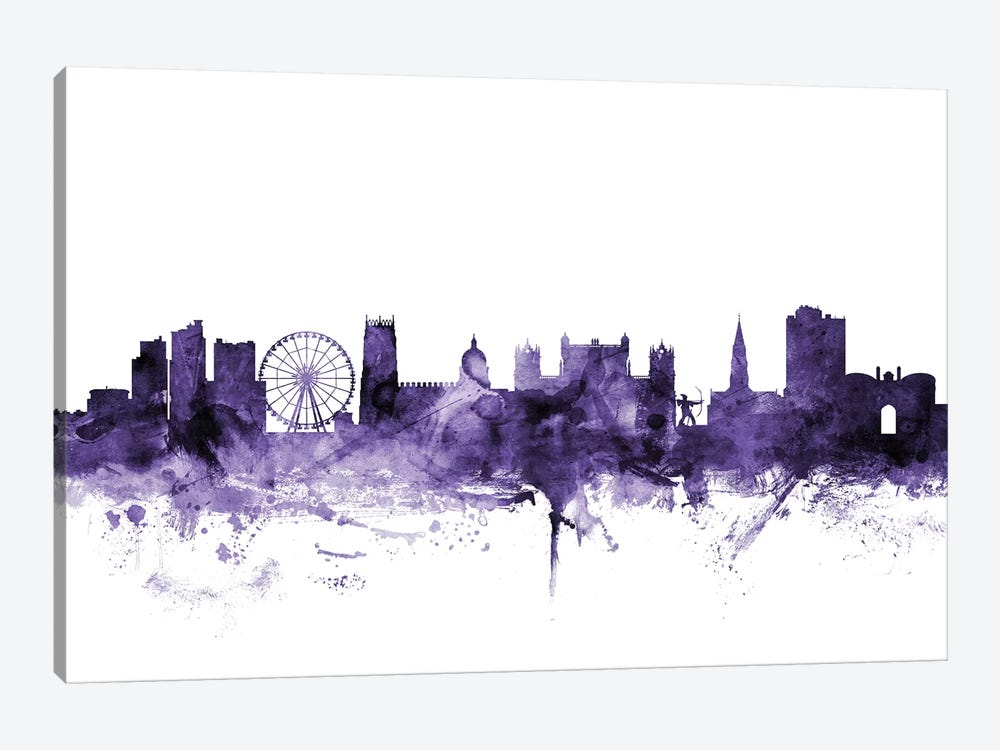 Nottingham, England Skyline by Michael Tompsett 1-piece Canvas Art