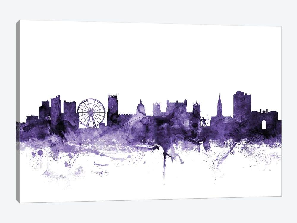 Nottingham, England Skyline by Michael Tompsett 1-piece Canvas Art