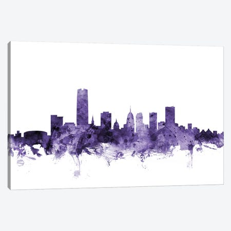 Oklahoma City Skyline Canvas Print #MTO664} by Michael Tompsett Canvas Art