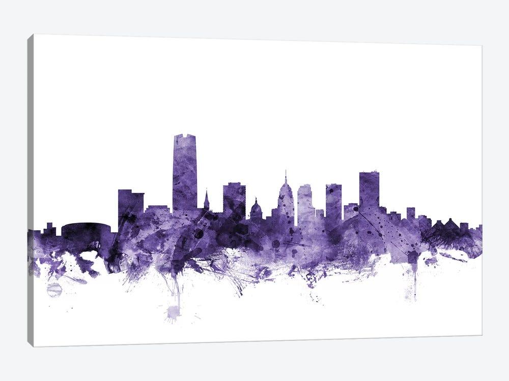 Oklahoma City Skyline by Michael Tompsett 1-piece Canvas Art Print