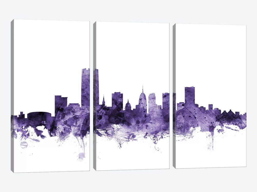 Oklahoma City Skyline by Michael Tompsett 3-piece Art Print