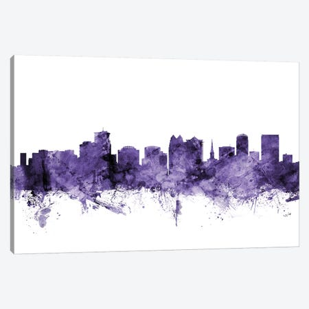 Orlando, Florida Skyline Canvas Print #MTO665} by Michael Tompsett Canvas Artwork