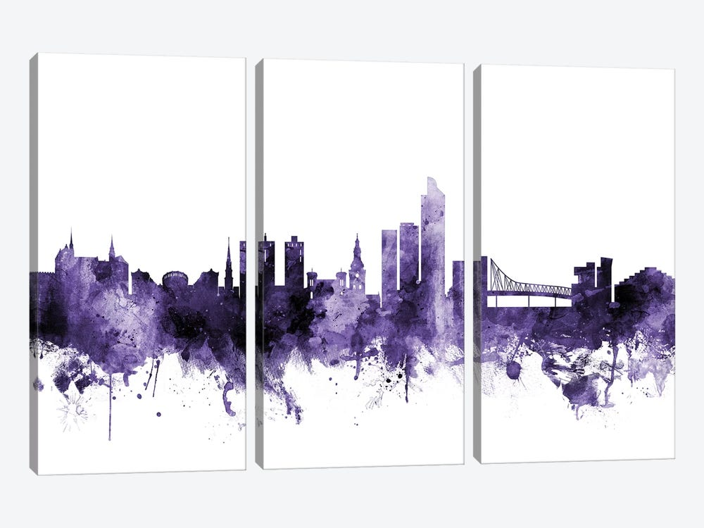 Oslo, Norway Skyline by Michael Tompsett 3-piece Canvas Print