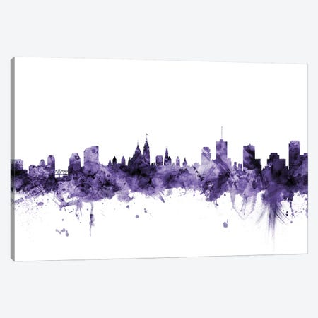 Ottawa, Canada Skyline Canvas Print #MTO667} by Michael Tompsett Canvas Artwork