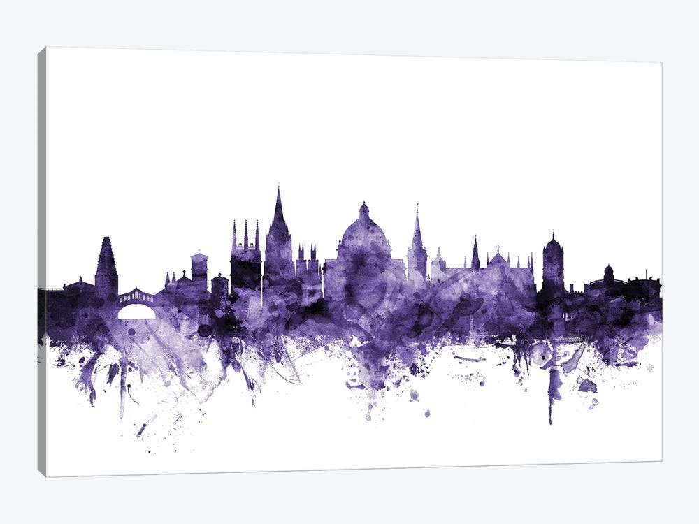 Oxford, England Skyline by Michael Tompsett 1-piece Art Print