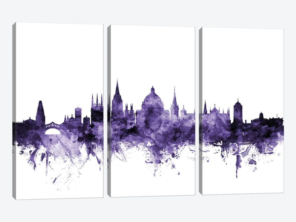 Oxford, England Skyline by Michael Tompsett 3-piece Canvas Print